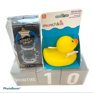 Picture blocks, water temp ducky, pacifiers